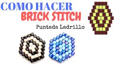 Learn How to use Brick Stitch technique with Delica