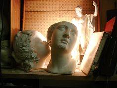 Laetitia de Bazelaire's studio, Belleville March 2006.