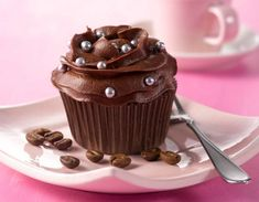 Mocca, Cupcake Heaven, Cupcakes, Deserts, Pudding, Candy, Baking, Sweet, Recipes