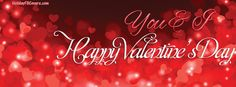 You and I Happy Valentine's Day Facebook Cover HolidayFBCovers.com Fb Quote, Fb Covers, Facebook, Happy Valentines Day, You And I, Neon Signs, Wallpaper, Backgrounds, You And Me