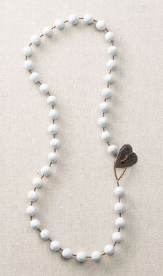 Bead Heart Clasp Necklace