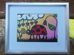 Original, hand drawn, personalised ladybird papercut by Nina Byers