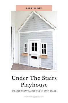 Under The Stairs Playhouse Created From Wasted Space. An adorable under the stairs playhouse DIY.