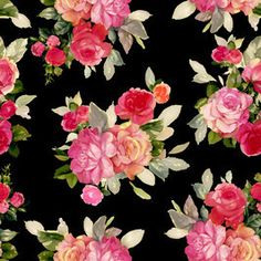 Romantic Roses by Rachel Rowberry Seamless Repeat Exclusive Pattern Romantic Roses, Repeating Patterns, Print Patterns, Floral Wreath, Fabrics, Dark, Nice, Stuff To Buy, Inspiration