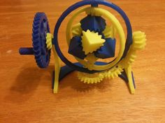 The Amazing Gyroscopic Cube Gears! by joefe.