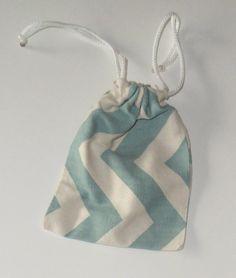 Chevron mini drawstring purse