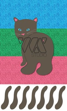 Pin the Tail on the Cat Animal Theme Party Game by WXSTUDIO