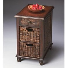 Chairside Chest - Butler Loft - 2158140. Chairside Chest - Butler Loft - 2158140 This impressive chairside chest has 2 convenient pullout abaca storage baskets and one drawer with an abaca front. Crafted from select wood solids and wood products, it also features ab.. . See More Chests at http://www.ourgreatshop.com/Chests-C698.aspx