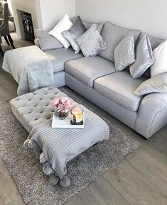 Awesome small living room designs are readily available on our site. Living Room Decor Inspiration, Living Room Decor Cozy, Chic Living Room, Living Room Grey, Living Room Sofa, Small Living Room Design, Living Room Designs, Living Room Flooring, Cottage