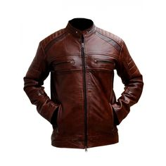 Motorcycle Cafe racer brown distressed leather jacket comes with 4 pockets. You can easily place your hands in the outside pockets to stay warm and cozy. This leather jacket is made from pure and genuine quality leather. Distressed Leather Jacket, Men's Leather Jacket, Leather Men, Leather Jackets, Real Leather, Brown Leather, Jacket Men, Cowhide Leather, Cafe Racer Leather Jacket