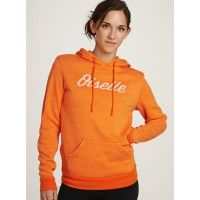 Oiselle Trials Hoodie now available in popping Oiselle Orange. Exclusive heaven-spun French Fleece wraps you in the snuggiest warmth a runner can find.