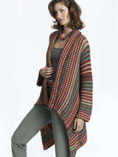Asymmetrical Jacket - Free Knitting Pattern - Yarnspirations