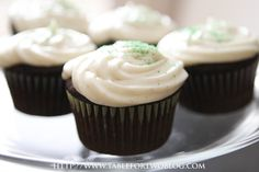 Dark Chocolate Cupcakes with Vanilla Bean Frosting