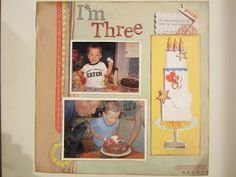 Sunny Dispositions Scrapbooking and Design: Happy 3rd Birthday Celebration!