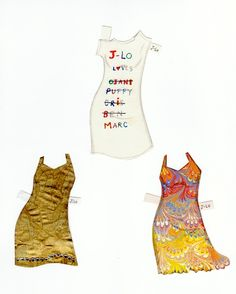 The Paper Collector: J.Lo paper doll
