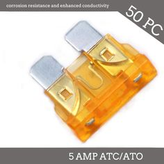 50 Pack 35 AMP ATC//ATO STANDARD Regular FUSE BLADE 35A CAR TRUCK BOAT MARINE RV