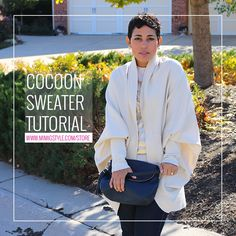 Step By Step Video Tutorial on making this amazing Cocoon Sweater!LEVEL: Beginner/IntermediateSIZES: My tutorials are made to your measurements by drafting and creating the pattern (super easy) and always a perfect fit. No guessing involved!TOOLS