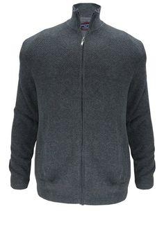 Casamoda Sweatjacke für 119,95€. Coole Strickjacke von Casa Moda, Mit Reißverschluss und zwei Taschen, Elastischer Rippen-Strick bei OTTO