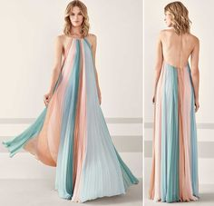 Formal dress Pronovias photo catalog and prices – Rebel Without Applause Chic Dress, Dress Up, Batik Mode, Girly Outfits, Fashion Outfits, Bride Dress Simple, Pronovias, Tie Dye Fashion, Mode Chic