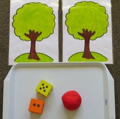 Apple Tree Play Dough Maths is a fun activity for encouraging early and basic maths skills using Apple Scented Play Dough and a set of dice. Math Activities For Kids, Apple Activities, Math Games, Preschool Activities, Play Doh Fun, Play Dough, Apple Theme, Ideas Geniales, Early Learning