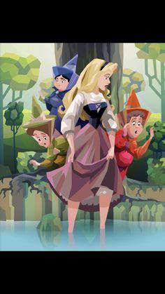 Disney And More, Disney Love, Disney Magic, Disney Princess Art, Disney Fan Art, Disney Princesses, Sleeping Beauty Art, Aurora Disney, Disney Fanatic