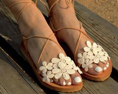Handmade Wedding Sandals by LovelyBrideByAnna on Etsy