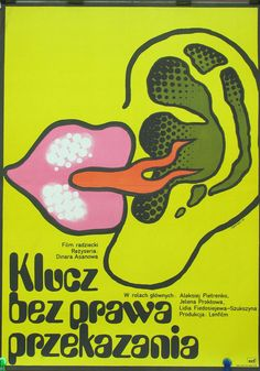The poster for the Russian (Soviet Union) film 1977. Directet by Dinara Asanova. Polish poster for this movie by Maciej Zbikowski 1978