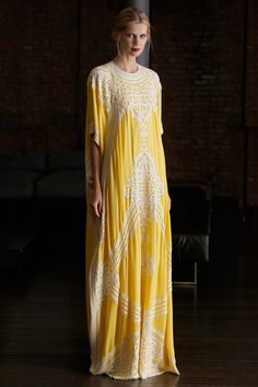 It's an elegant mu mu but I still want one Naeem Khan | Resort 2015 Collection | Style.com || love this