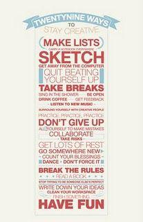 29 Ways to Be Creative!