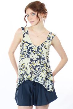 double strap floral tank. Love the shape and anything with a double strap detail.
