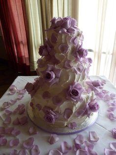 3 tier buttercream wedding cake - Village Bakery - Tyler TX