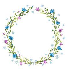 Floral wreath composition vector by stolenpencil on VectorStock®