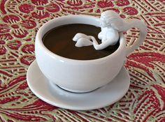 #3DPrinted Vasca #Cappuccino #Mug _Designed by Meshuga , www.likefigures.com