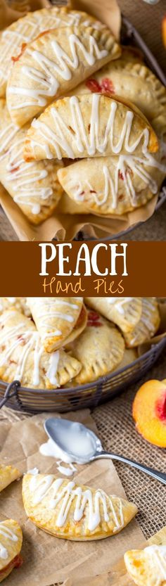 Homemade Peach Hand Pies - soft and sweet and loaded with juicy peaches.
