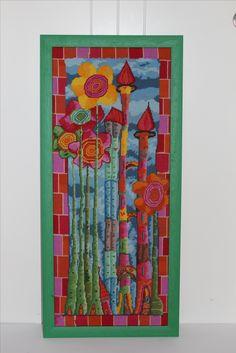 Türme mit Blumen gestickt byPAULA