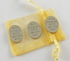 Set of 3 Be the Change Pocket Pieces with Organza Bag