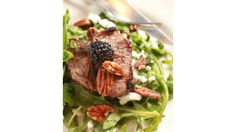 Ohio Lamb Arugula Salad With Blackberry Vinaigrette