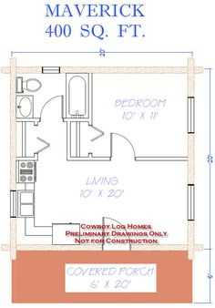 house plans 600 sq ft 5 cabin floor plans under 400 sq ft 630 x 903 Small Log Home Plans, Log Cabin Plans, Small Floor Plans, Cabin Floor Plans, Small House Plans, Cabin Kits, Log Cabins, The Plan, How To Plan