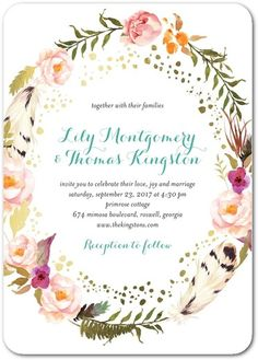 dd5fb424123f Strung floret invite Whimsical Wedding Invitations