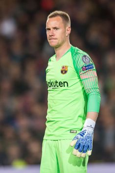 Goalkeeper Marc-Andre Ter Stegen of FC Barcelona looks on during the UEFA Champions League Semifinal match between FC Barcelona and FC Liverpool at Camp Nou on May 2019 in Barcelona, Spain. Get premium, high resolution news photos at Getty Images Camp Nou, Marc Andre, Fc Liverpool, Uefa Champions League, Barcelona Spain, Goalkeeper, Soccer Players, That Look, Nike