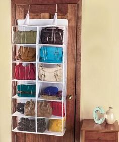 Over The Door Purse Shoes Scarves Belts Storage Closet Organizer Dorm Room | eBay