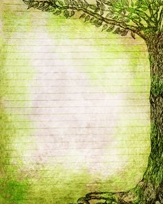 Printable Journal Page, Pen and Ink Drawing Tree, Nature, Forest, Green, 8 x 10 in JPG or PDF, Scrapbooking Paper, Insert, Sheet. $2.50, via Etsy.
