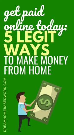 Today, you can earn money online right now! Here are 5 ways to legitimately get paid online from the comfort of your home. #getpaidonline #earnmoneyfromhome #earnmoney #earnmoneyonline #workfromhome #workathome Get Paid Online, Earn Money Online Fast, Ways To Earn Money, Earn Money From Home, Way To Make Money, Online Income, Online Jobs, Poetry Online, Transcription Jobs For Beginners