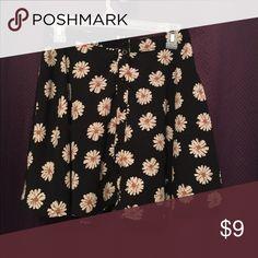 Flower print skater skirt gently used, skater skirt Skirts Circle & Skater