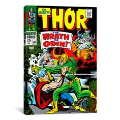 Marvel Comic Book Thor Issue Cover #147 Graphic Art on Canvas