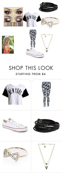 """""""Lovin' New York"""" by christiana-samuel on Polyvore featuring :CHOCOOLATE, Converse, Pieces, River Island and House of Harlow 1960"""