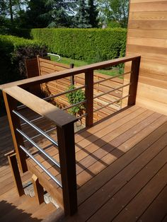 Porch Railing Designs, Wood Deck Railing, Balcony Railing Design, Patio Deck Designs, Fence Design, Railing Ideas, Upstairs Deck Ideas, Modern Deck, Decks And Porches