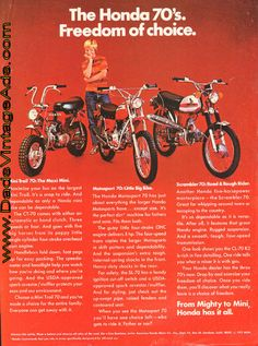 1971 Vintage Honda Ad – The Honda 70′s – Freedom of Choice