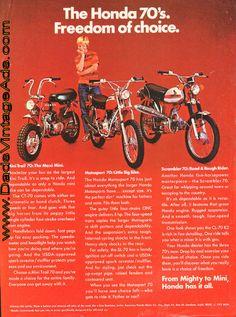 1971 Vintage Honda Ad – The Honda 70′s – Freedom of Choice