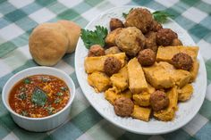 What better addition to our previous post's Tomato Marinara Sauce (Sugo Al Pomodoro) than Elisa's Fried Polenta (Polenta Fritta) and Fried Risotto Balls (Arancini)? Order her cookbook to enjoy these delicious dishes all together! http://www.italianmomscooking.com/ #italianmomscooking
